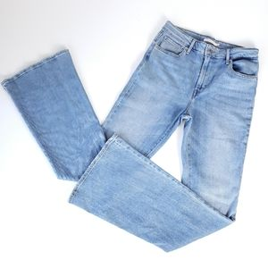 Levi's High Rise Flare Light Wash Jeans 30 Tall